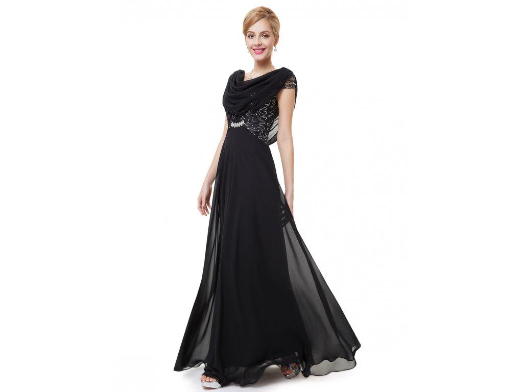 Dámské elegantní Ever Pretty plesové šaty černé 9989 (Velikost 3XL   48    16   138ac03ae55