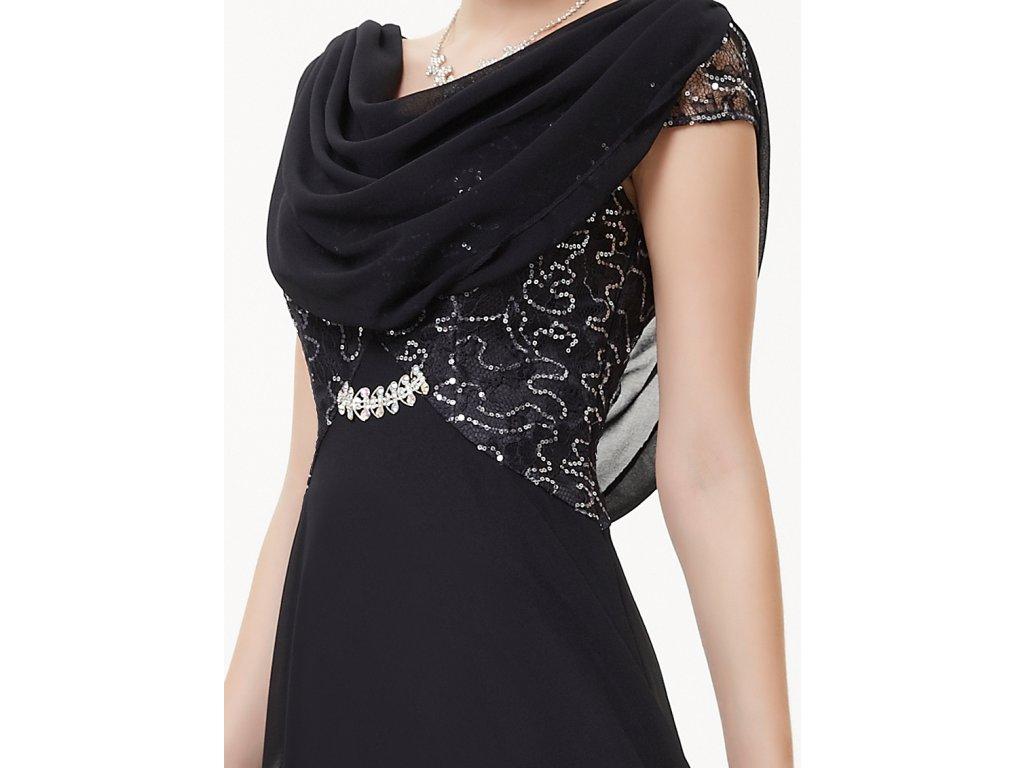 ... Dámské elegantní Ever Pretty plesové šaty černé 9989 (Velikost 3XL   48    16   bfe86e8af8