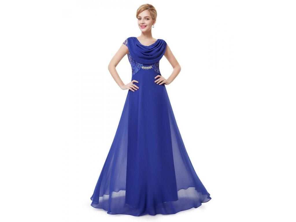 Dámské elegantní Ever Pretty plesové šaty sv. modré 9989 (Velikost 3XL / 48 / 16 / 20)