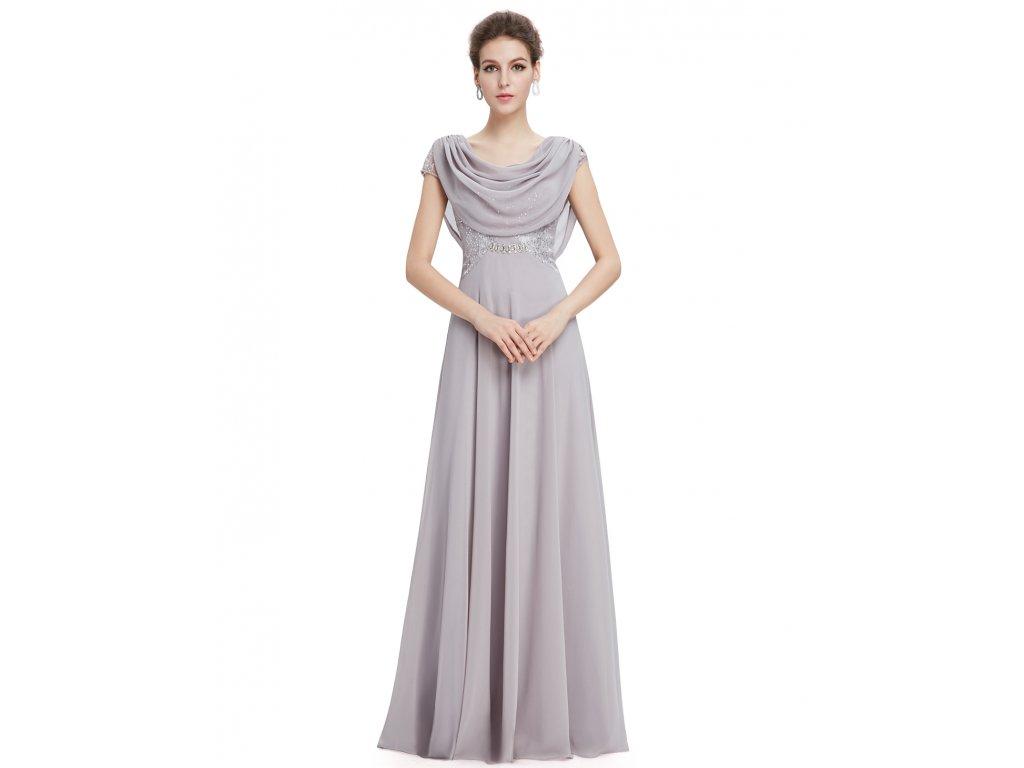 a0a3a6b25908 Dámské elegantní Ever Pretty plesové šaty šedé 9989 (Velikost 3XL   48   16
