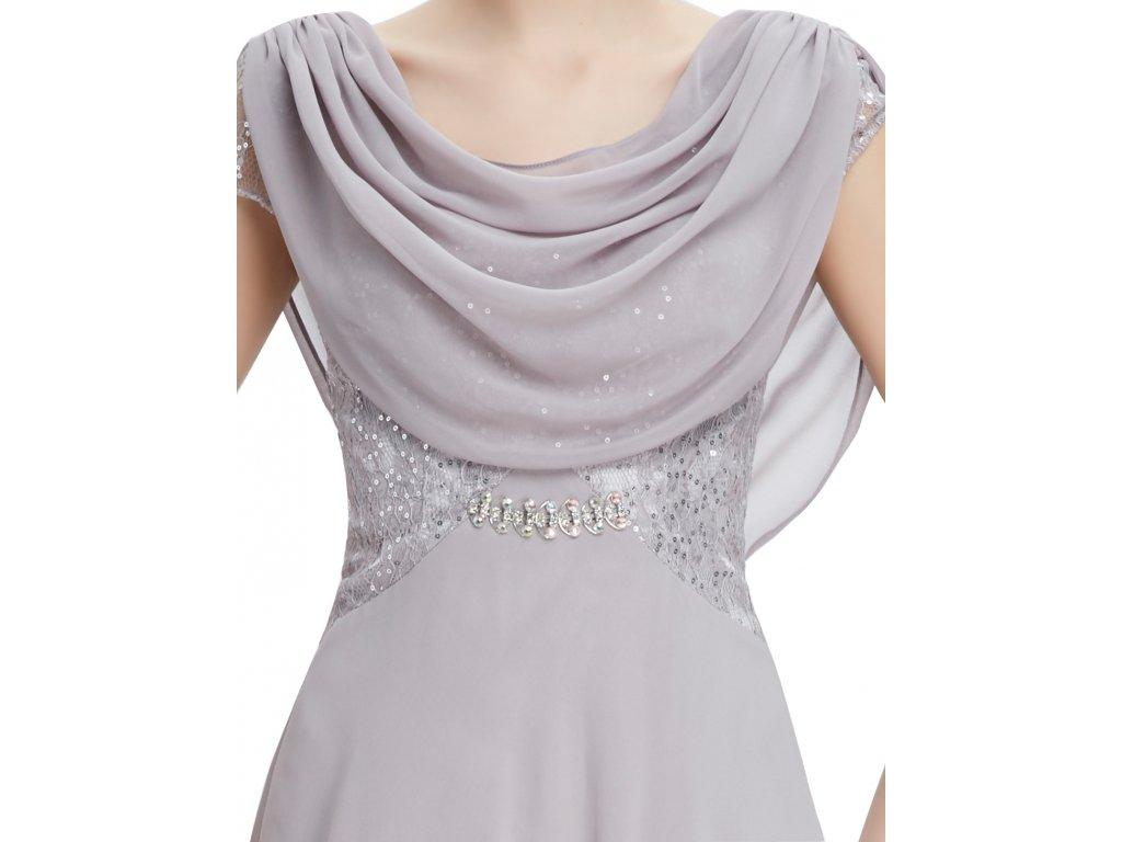 6d3f4dcb5055 ... Dámské elegantní Ever Pretty plesové šaty šedé 9989 (Velikost 3XL   48    16 ...