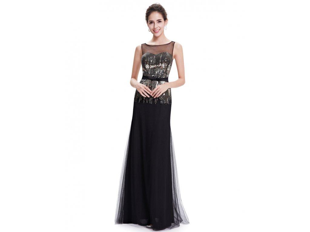 Dámské elegantní Ever Pretty plesové šaty černé 8602 (Velikost 3XL / 48 / 16 / 20)