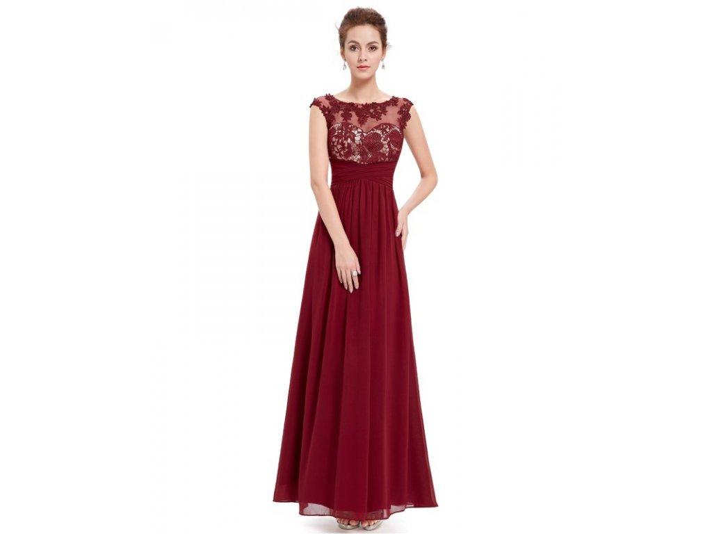 afe9736e507 Dámské elegantní Ever Pretty plesové šaty bordo 8441 (Velikost 3XL   48   16