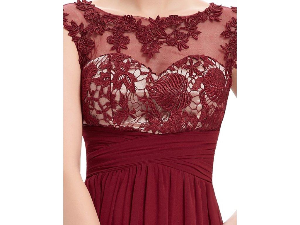 7c52290b3ea ... Dámské elegantní Ever Pretty plesové šaty bordo 8441 (Velikost 3XL   48    16 ...