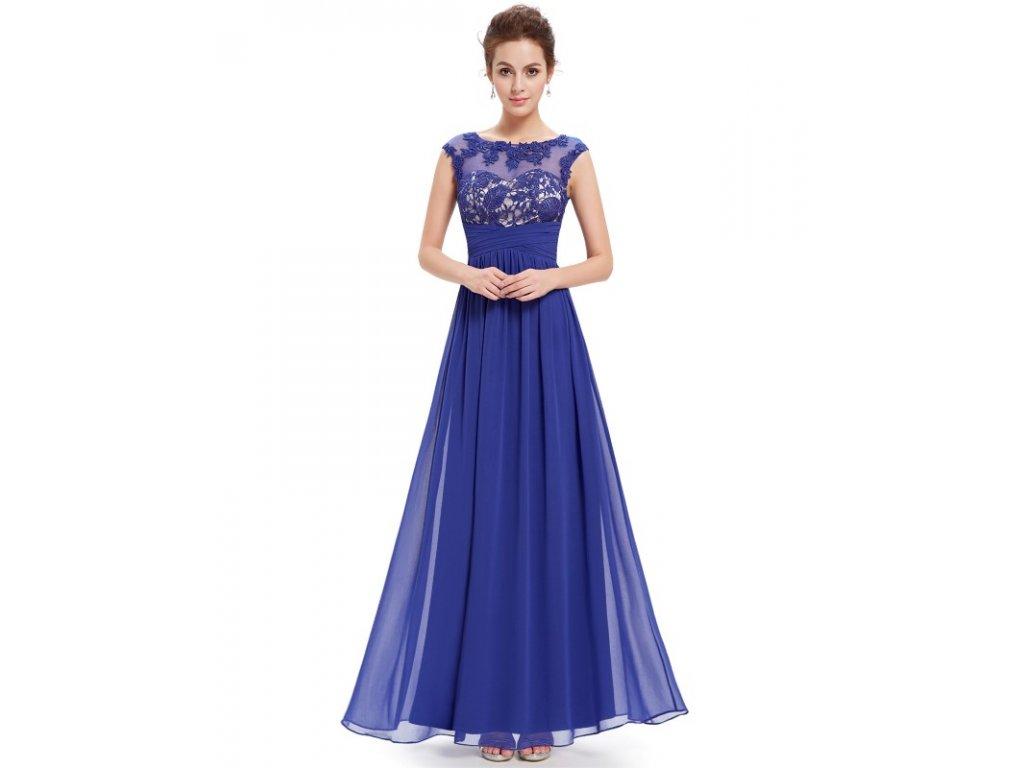Dámské elegantní Ever Pretty plesové šaty safírově modré 8441 (Velikost 3XL    48   16 780bf99f453