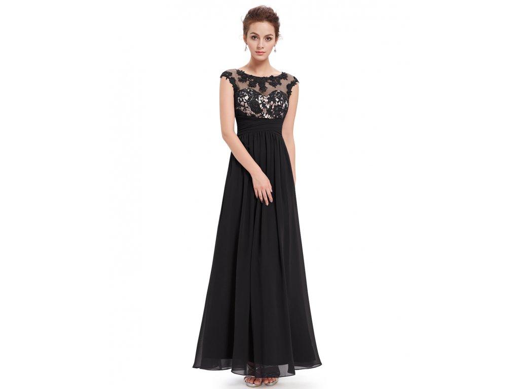 Ever Pretty plesové šaty černé 8441 (Velikost 3XL / 48 / 16 / 20)