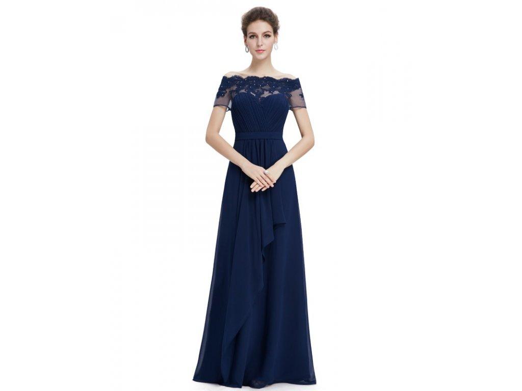 Elegantní Ever Pretty plesové šaty modré 8490 (Velikost 3XL / 48 / 16 / 20)