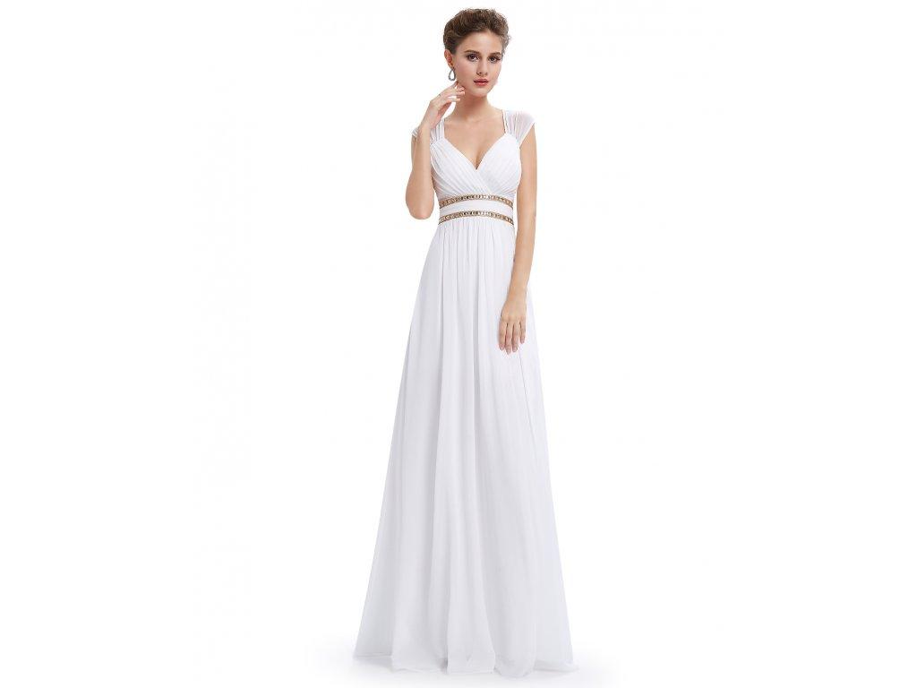 Bílé dlouhé večerní šaty Ever Pretty 8697 - trendy-obleceni.cz e62479b20d