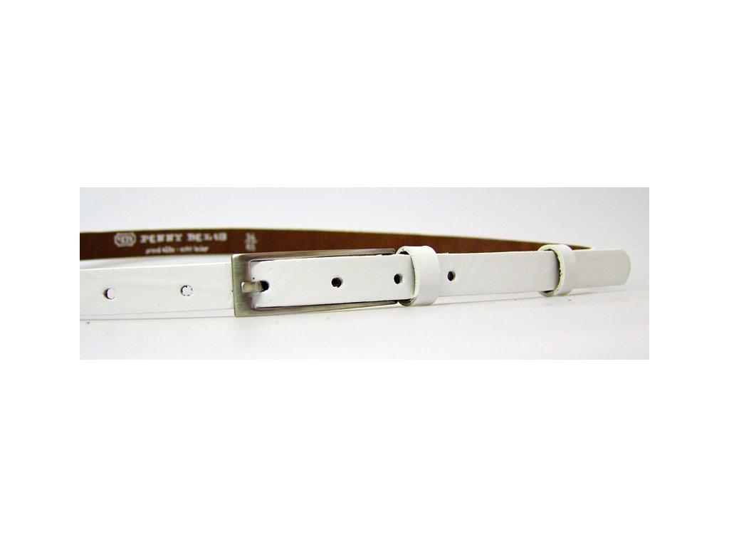 A Dámský kožený opasek 15-1-00 bílý