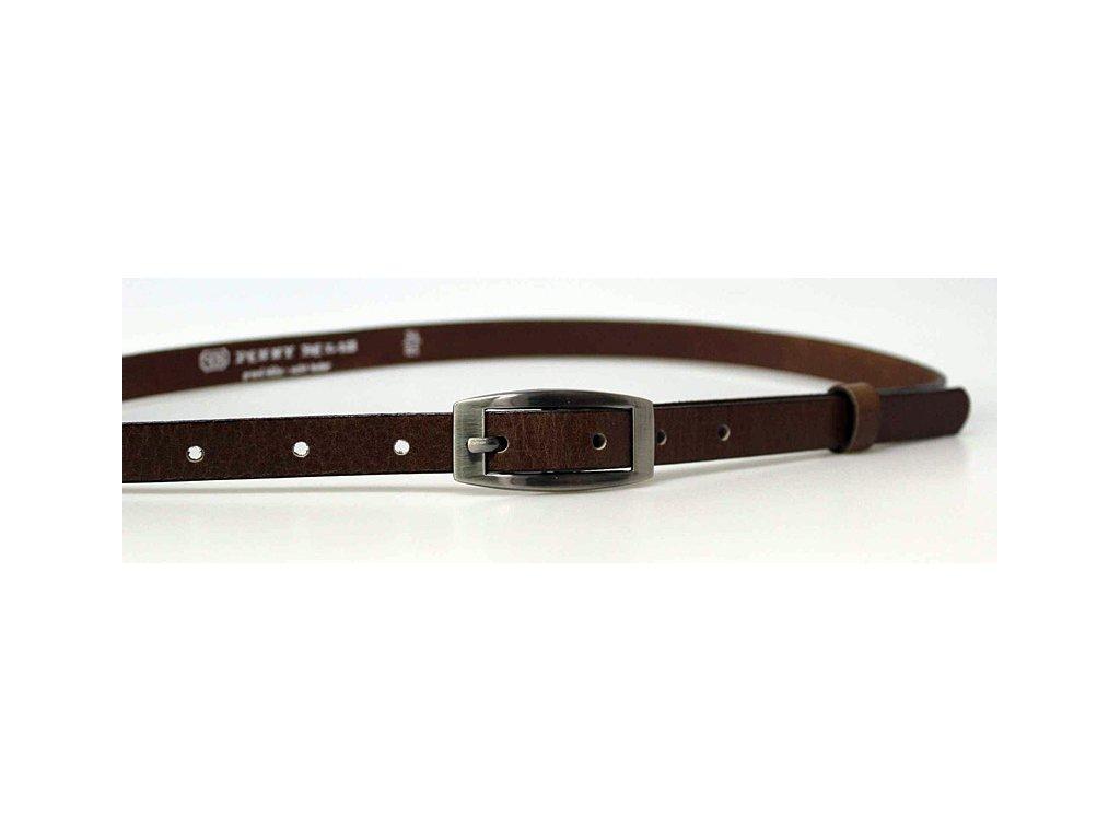 A Dámský kožený pásek15-2-48 tmavě hnědý