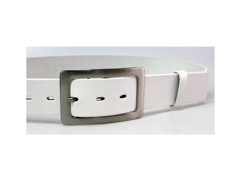 A Dámský kožený pásek 4cm široký - bílý 4200
