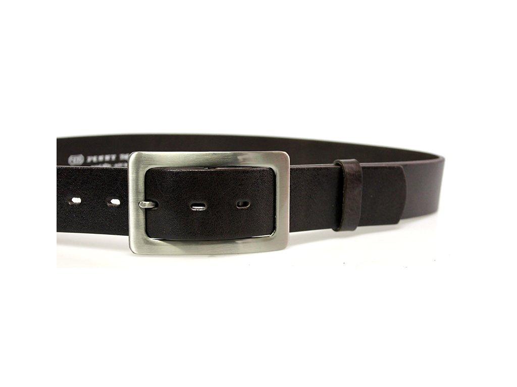 A Dámský kožený pásek 4cm široký - hnědý 4204