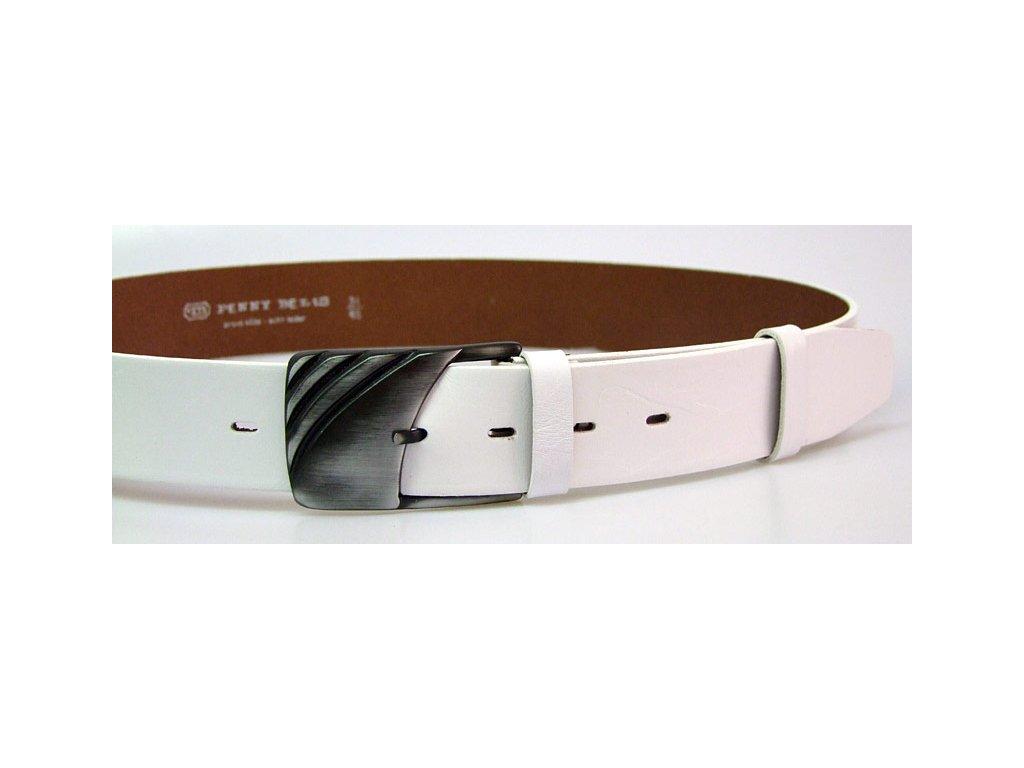 A Dámský kožený pásek 4cm široký -  Bílý  5900