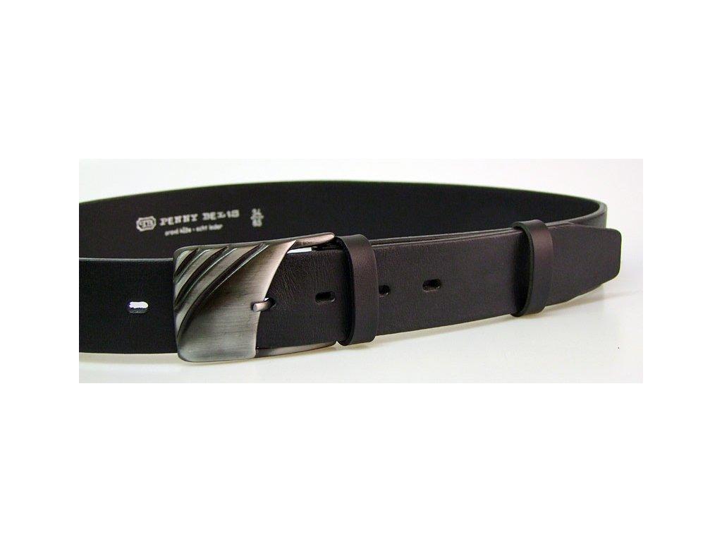 A Dámský kožený pásek 4cm široký -  ČERNÝ 5963