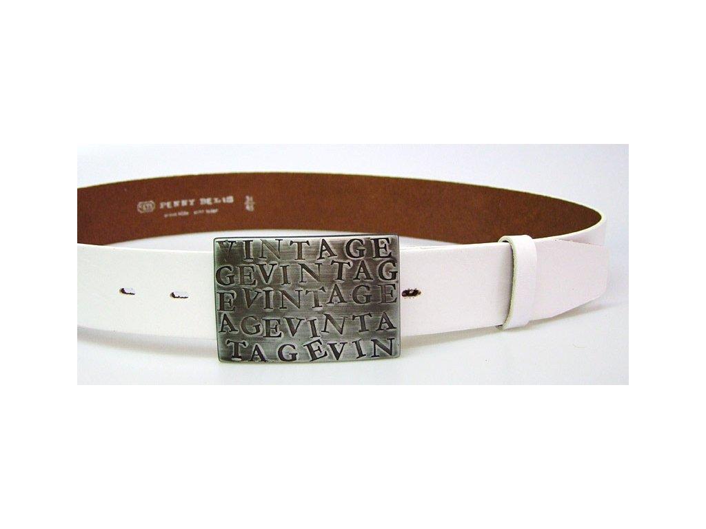 A Dámský kožený pásek 4cm široký -  Bílý 6000
