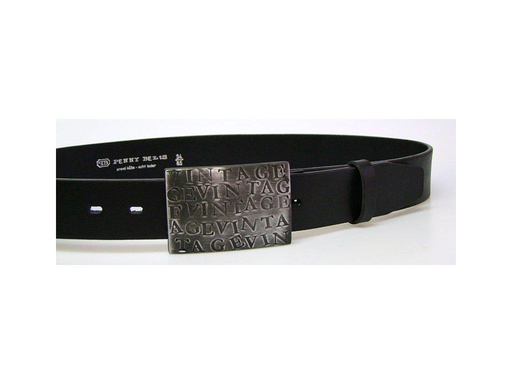 A Dámský kožený pásek 4cm široký -  Černý 6063