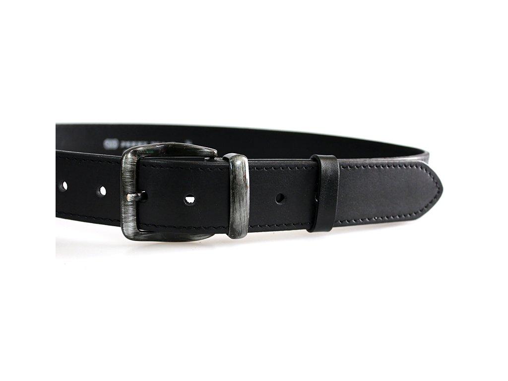 A Pánský kožený pásek černý 01-1-60