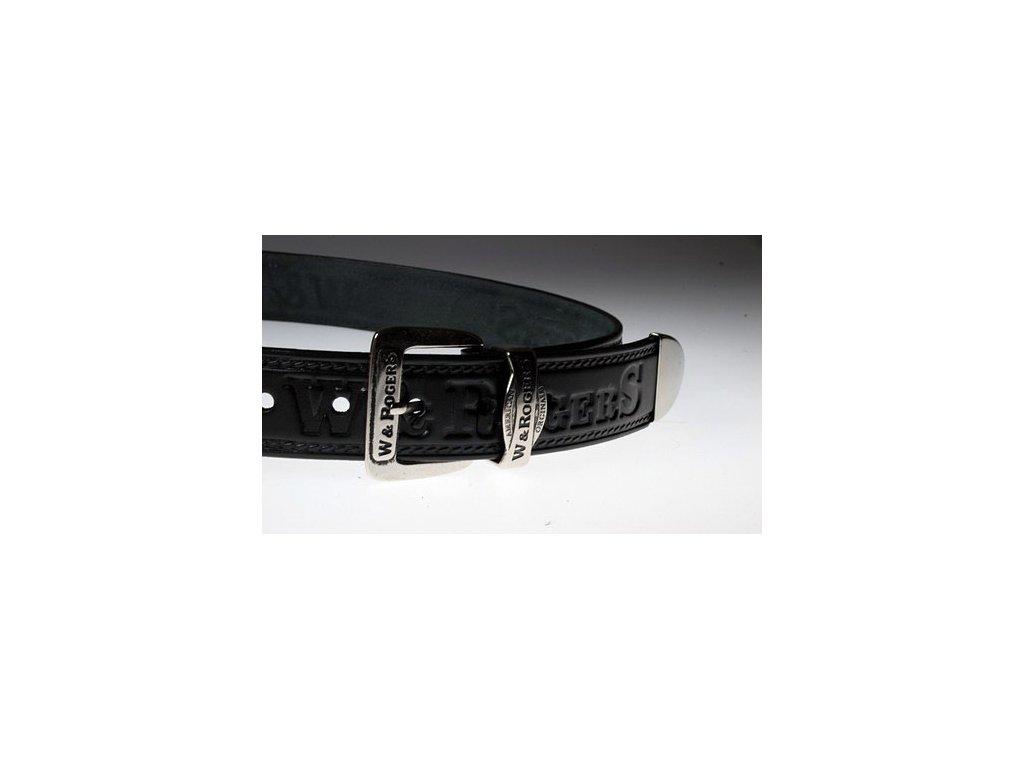 A Pánský kožený pásek černý 15-60