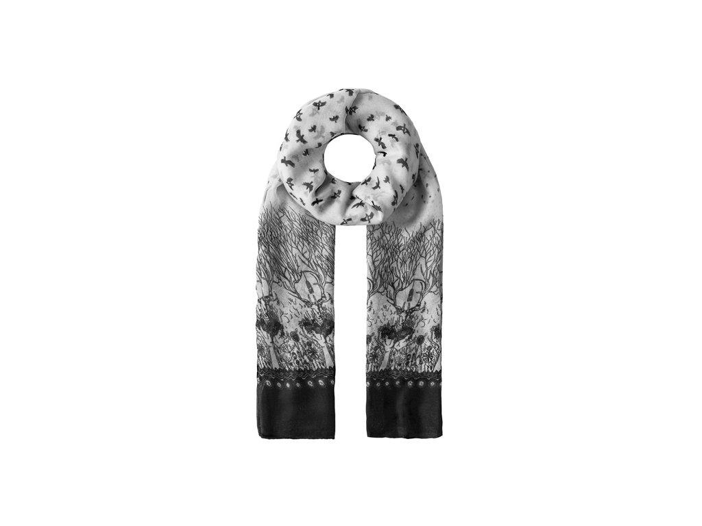 Vincenzo Boretti luxusní šátek, šálka šedá