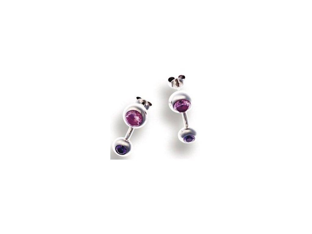 Choice CH4OX0054ZZ5000 růžovo fialové náušnice