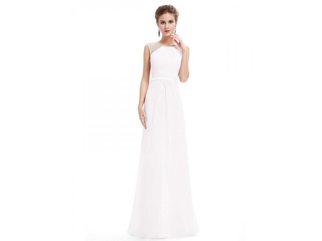 Ever Pretty bílé s jemným zdobením 8742 (Velikost 3XL / 48 / 16 / 20)