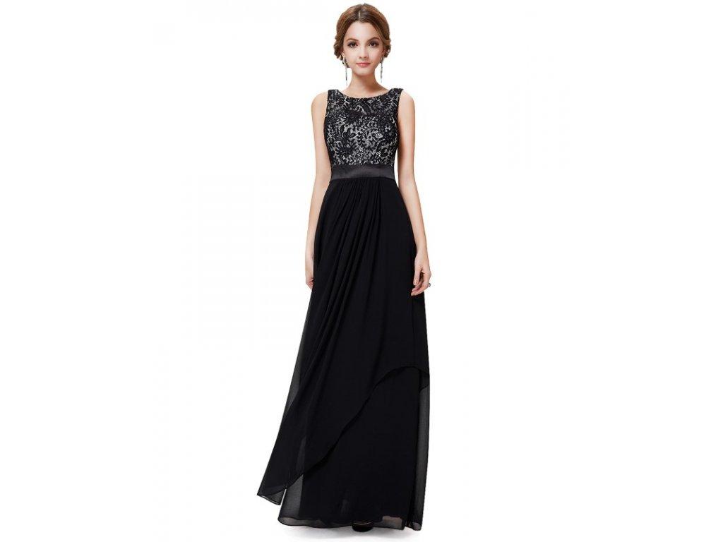 7746b54f5ca Ever Pretty dlouhé plesové šaty černé 8217 (Velikost 3XL   48   16   20