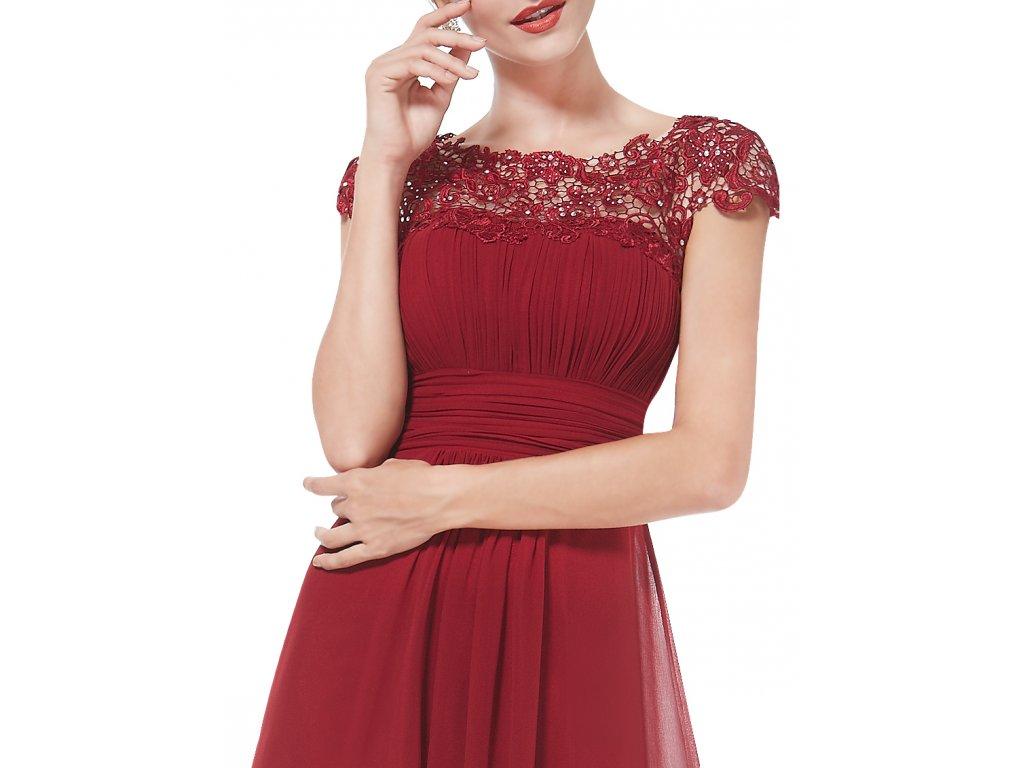 842f554f483 Ever Pretty plesové šaty s krajkou bordo 9993 - trendy-obleceni.cz