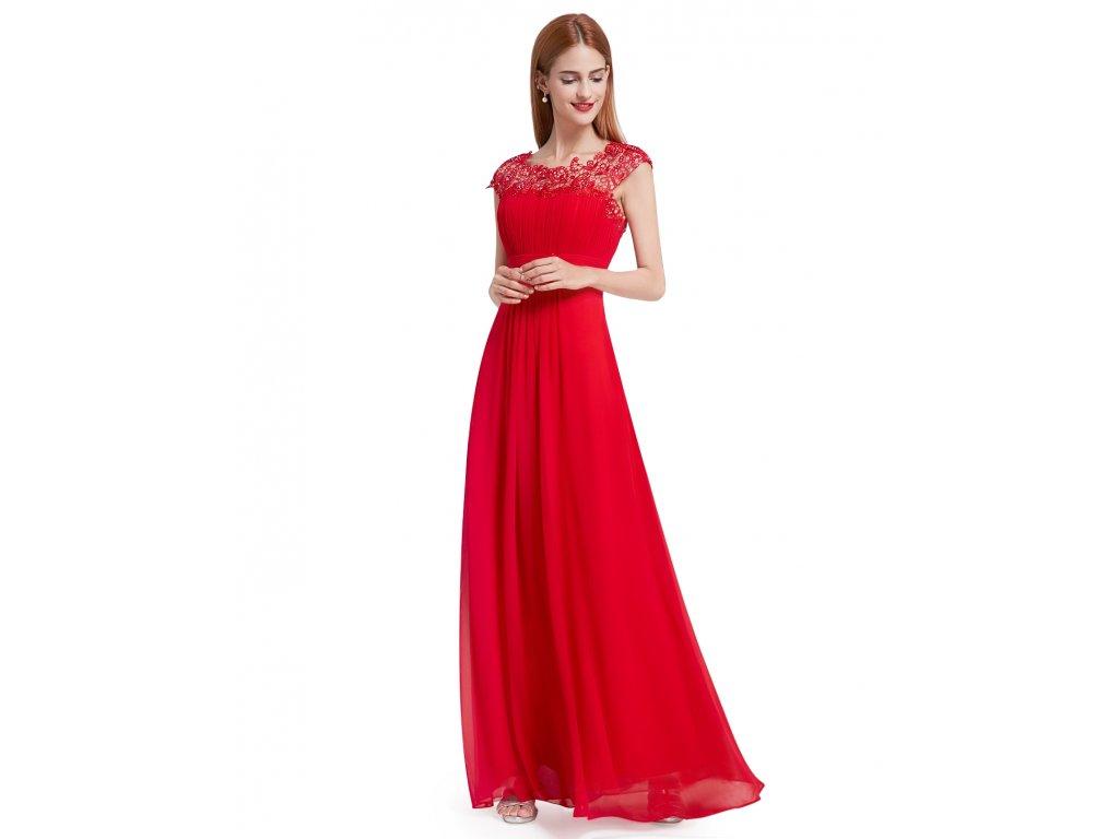 Ever Pretty plesové šaty s krajkou červené 9993 - trendy-obleceni.cz 5e3333276a