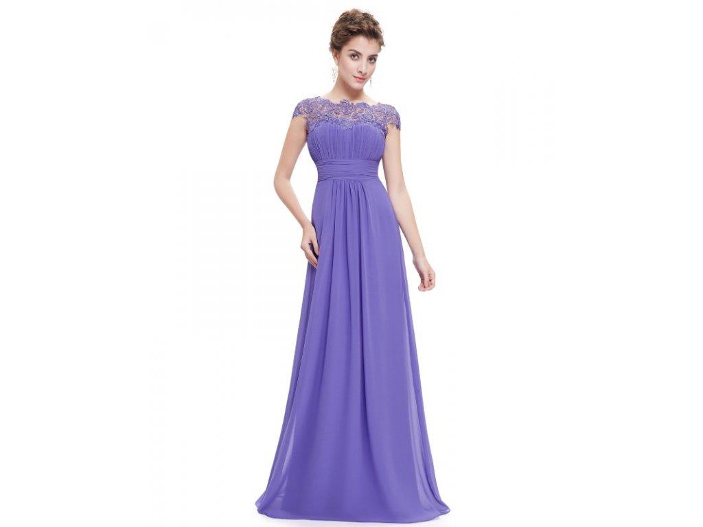 Ever Pretty plesové šaty s krajkou fialkové 9993 (Velikost 3XL   48   16   564dcdd348