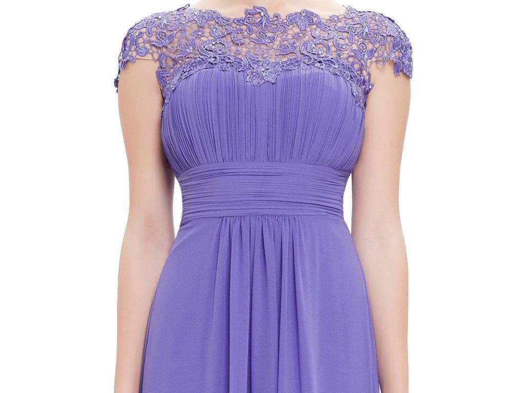 3f566ec3e196 ... Ever Pretty plesové šaty s krajkou fialkové 9993 (Velikost 3XL   48   16