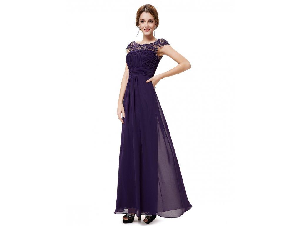 Ever Pretty plesové šaty s krajkou fialové 9993 - trendy-obleceni.cz aa5192c912
