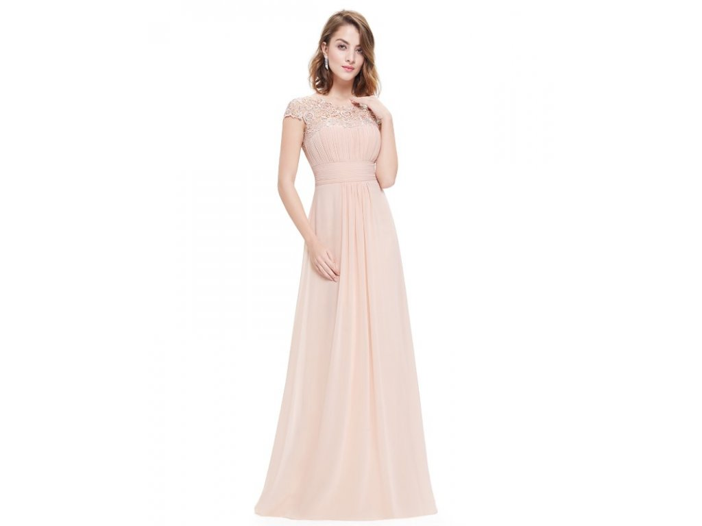 Ever Pretty plesové šaty s krajkou krémové 9993 (Velikost 3XL   48   16   90c1abf4a5