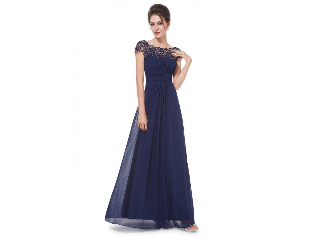 dae5d56c3a2e Ever Pretty plesové šaty s krajkou tmavě modré 9993 (Velikost 3XL   48   16