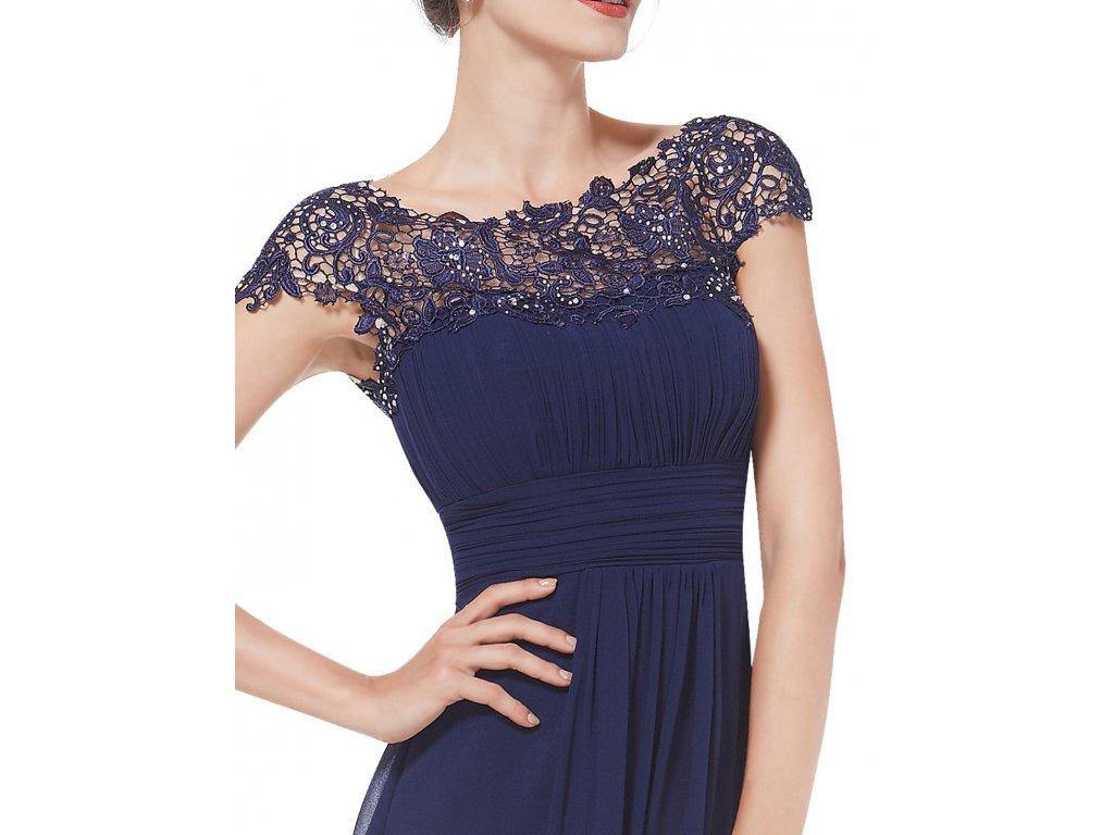 6b6e31b9c851 ... Ever Pretty plesové šaty s krajkou tmavě modré 9993 (Velikost 3XL   48    16 ...