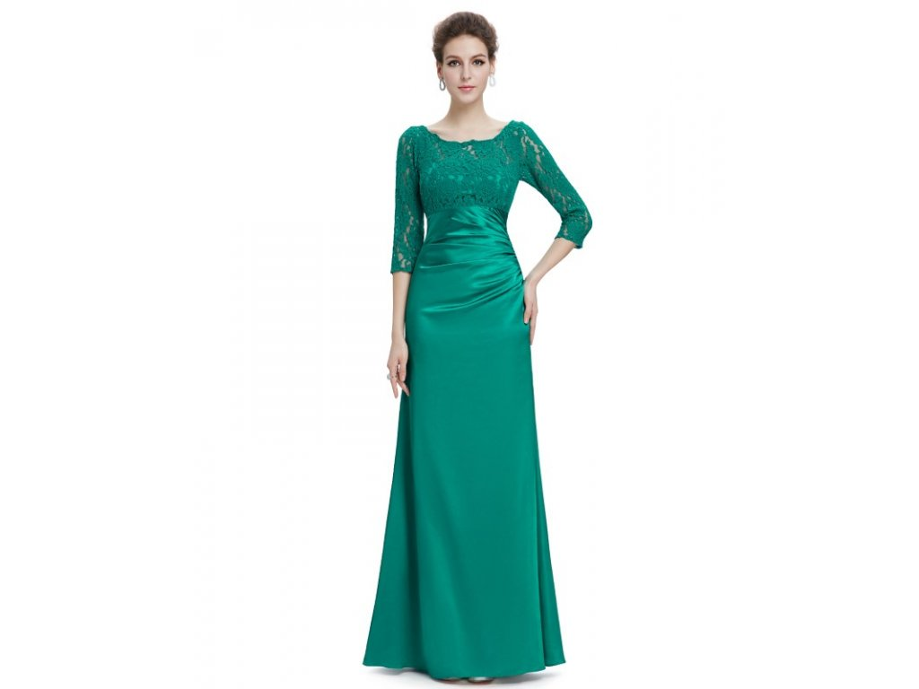 Společenské šaty Ever Pretty 9882 zelené (Velikost 3XL / 48 / 16 / 20)