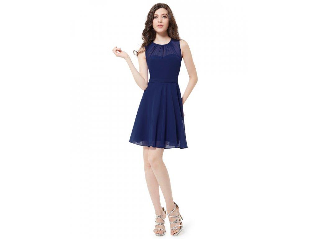 Ever Pretty krátké šaty navy 5253 (Velikost 3XL / 48 / 16 / 20)