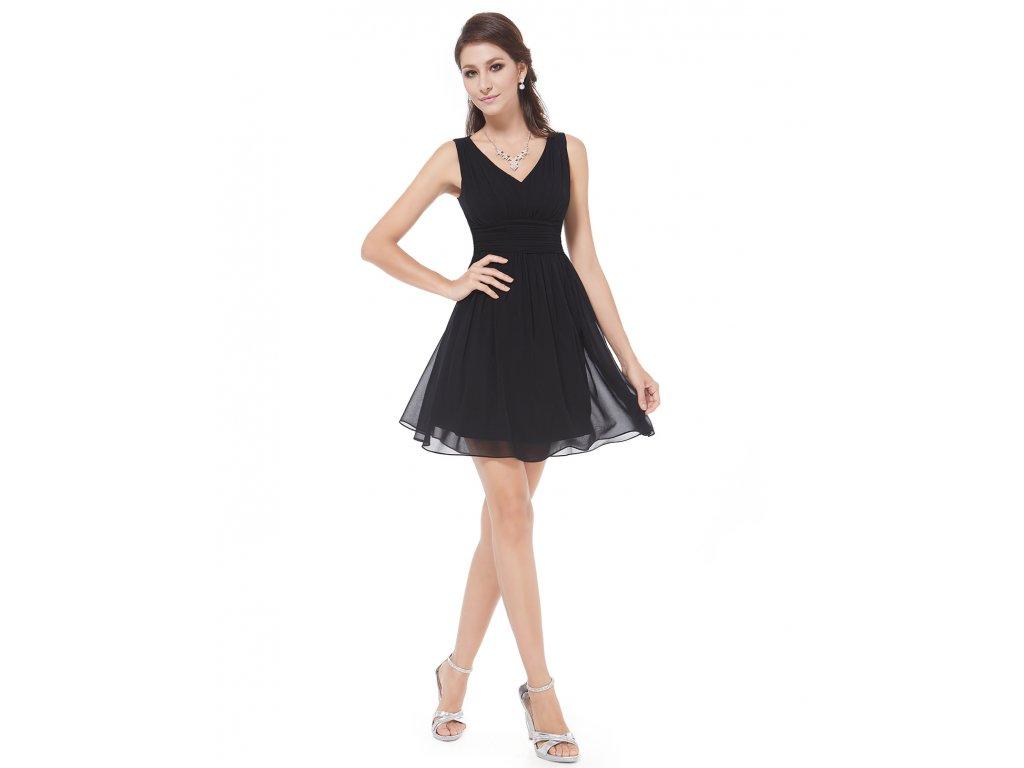 2800c33b92e9 Ever Pretty letní šaty krátké černé 3909 (Velikost 3XL   48   16   20