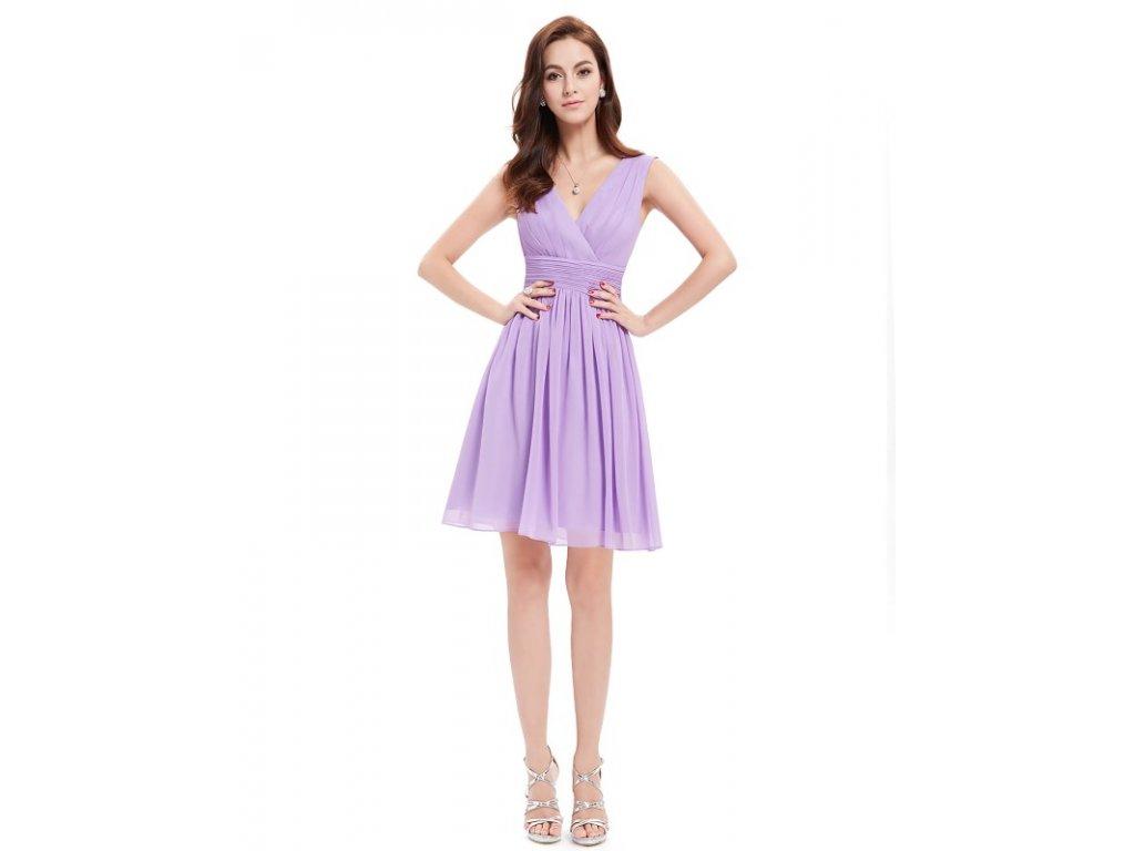 ... Ever Pretty letní šaty krátké jemné fialové 3989 (Velikost 3XL   48    16 ... e71d4d190f