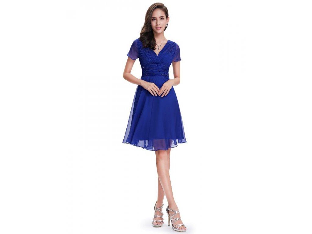 Ever Pretty letní šaty krátké modré 3882 (Velikost 3XL / 48 / 16 / 20)