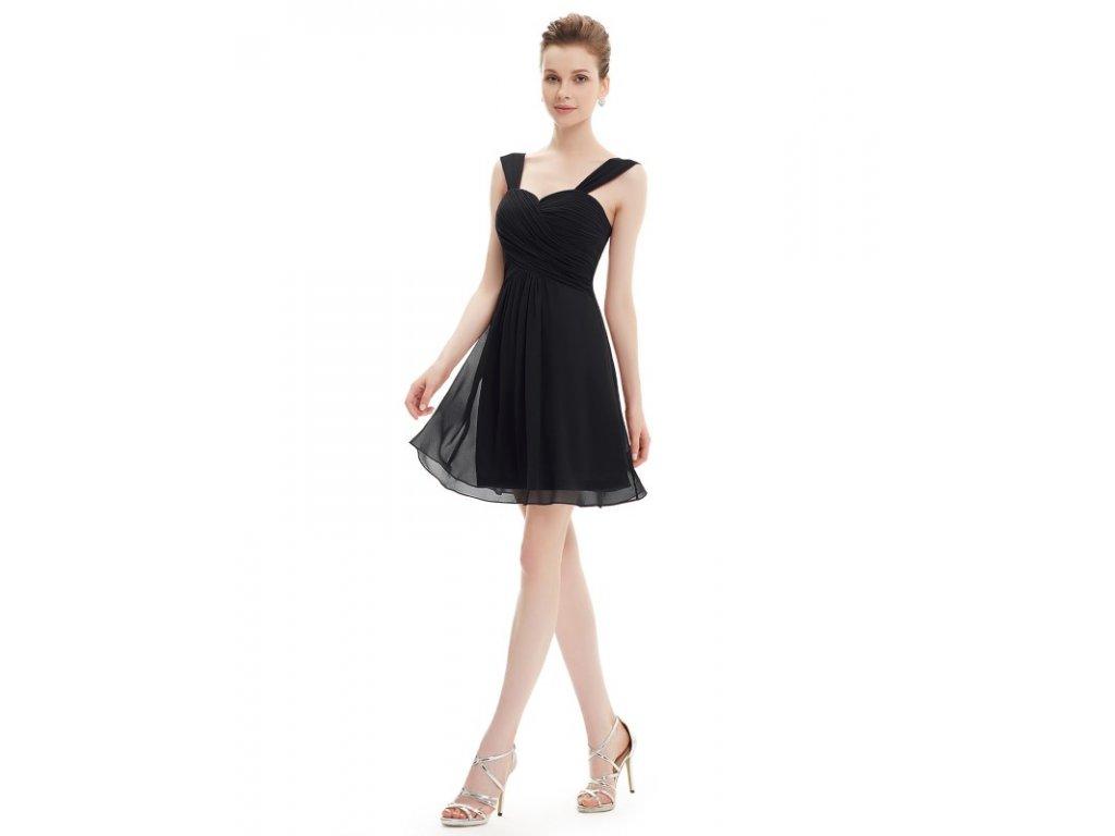 Ever Pretty letní šaty krátké černé 3539 (Velikost 3XL / 48 / 16 / 20)