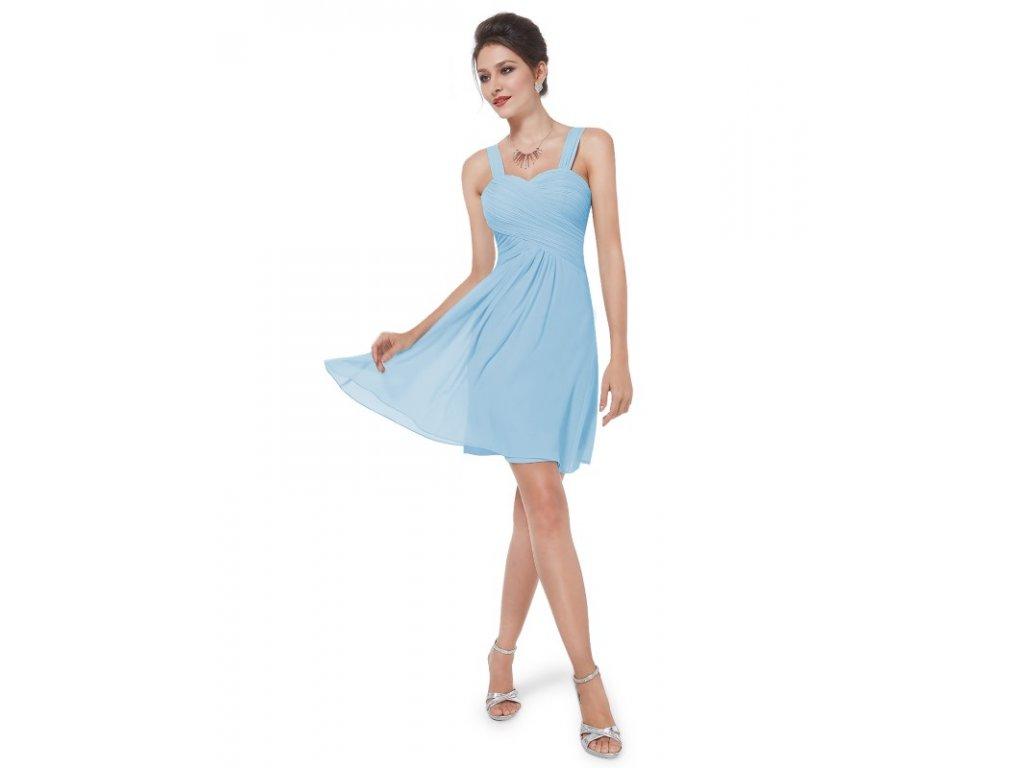 de1bf1fae41 Ever Pretty letní šaty krátké jemně modré 3539 (Velikost 3XL   48   16