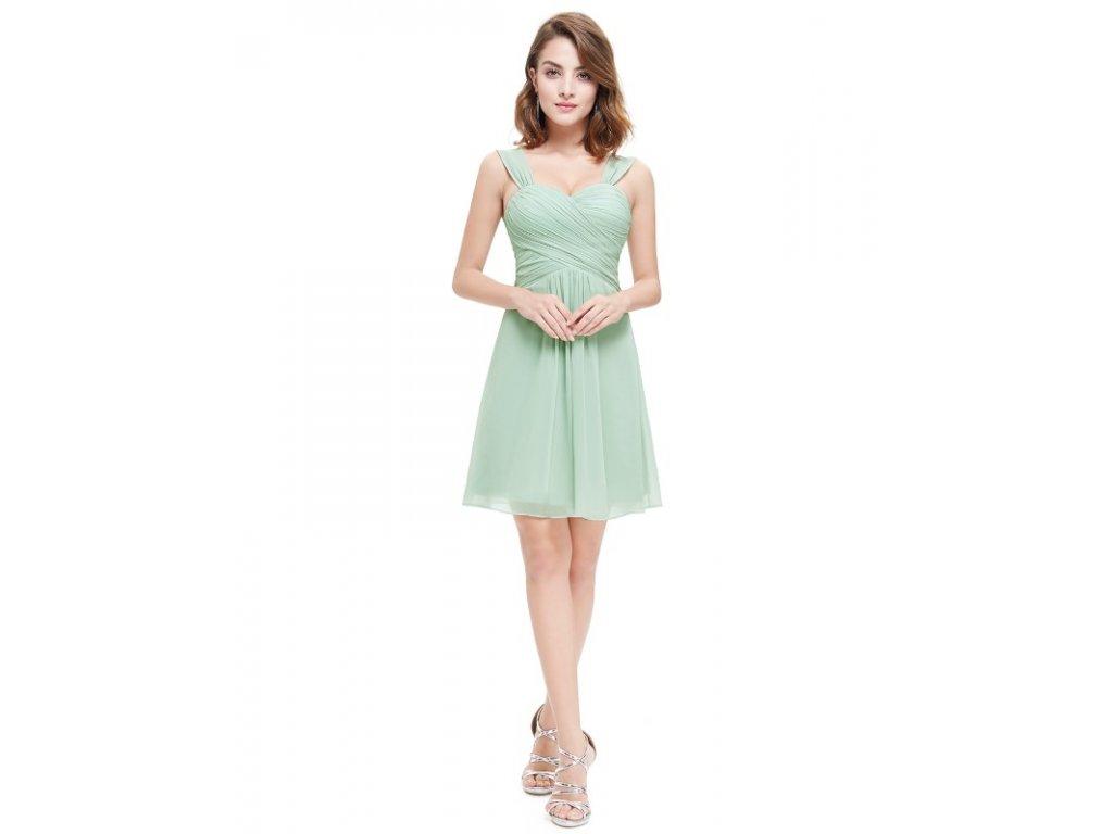 d3e850e8cf03 Ever Pretty letní šaty krátké mentolové 3539 (Velikost 3XL   48   16   20