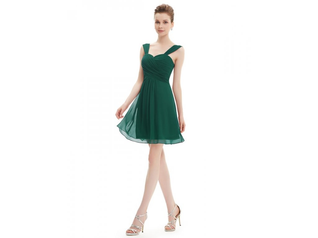 Ever Pretty letní šaty krátké zelené 3539 (Velikost 3XL   48   16   20 eebdea81a7