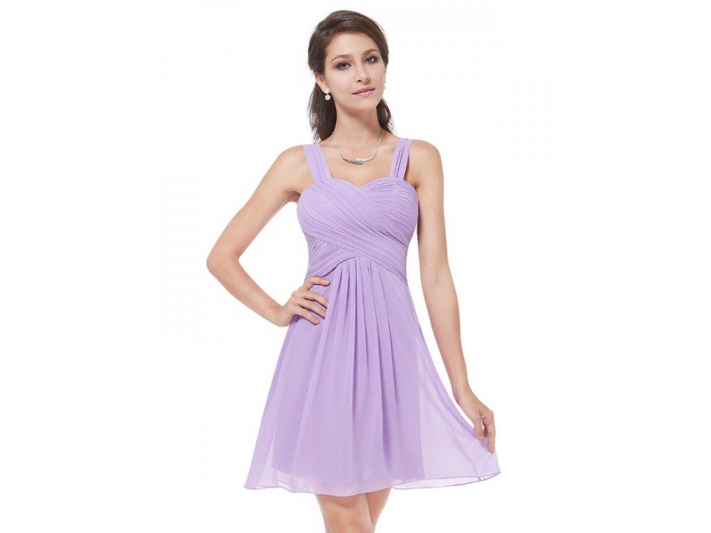 d0f446928 Ever Pretty plesové šaty krátké fialové 3539 (Velikost 3XL / 48 / 16 / 20