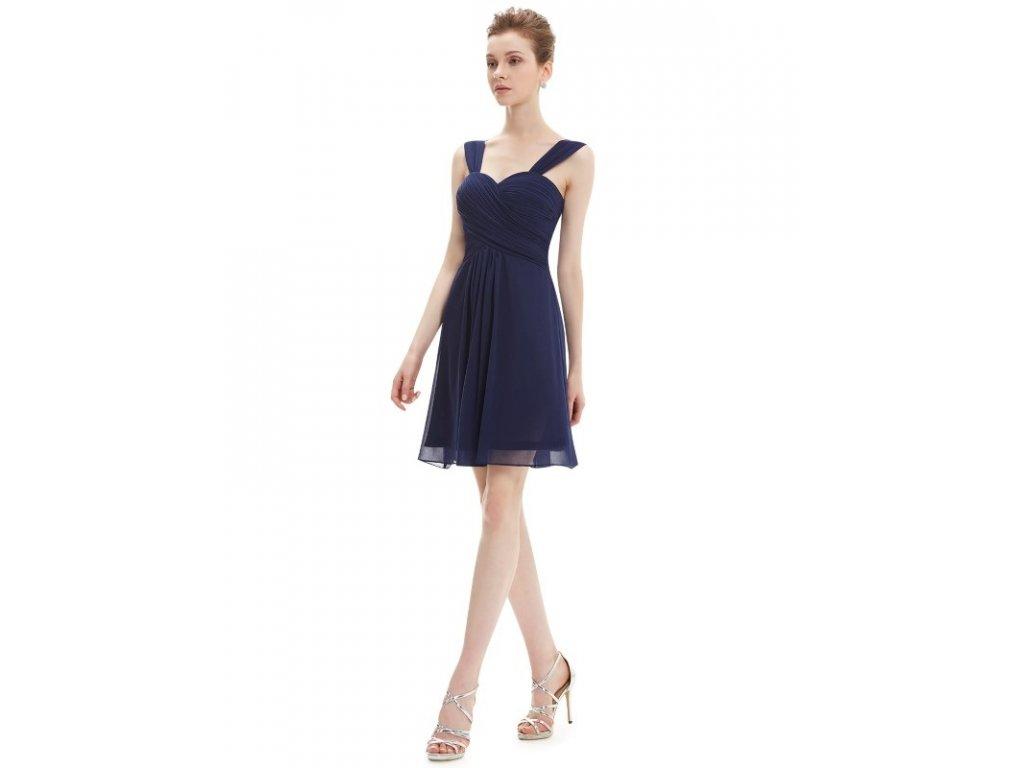 c7686c90536c Plesové šaty krátké tmavě modré Ever Pretty 3539 (Velikost 3XL   48   16