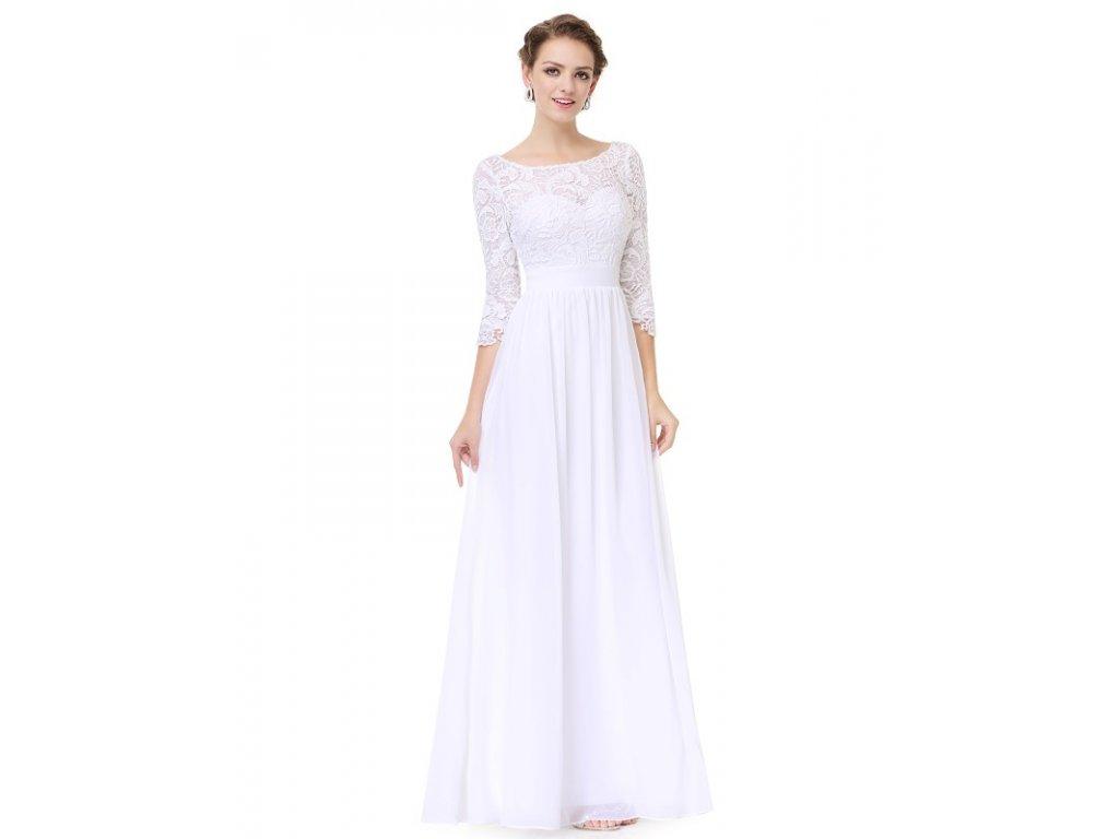 Společenské šaty Ever Pretty bílé 8412 (Velikost 3XL / 48 / 16 / 20)