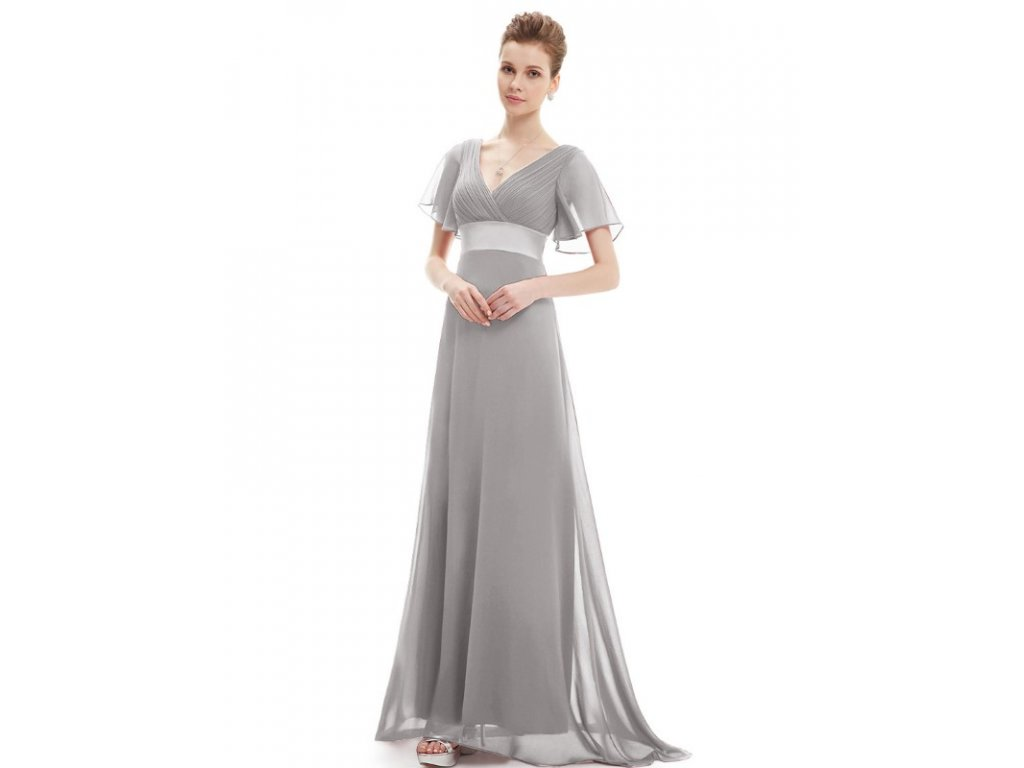 9d11b467da7 Ever Pretty plesové šaty šedé 9890 (Velikost 3XL   48   16   20)