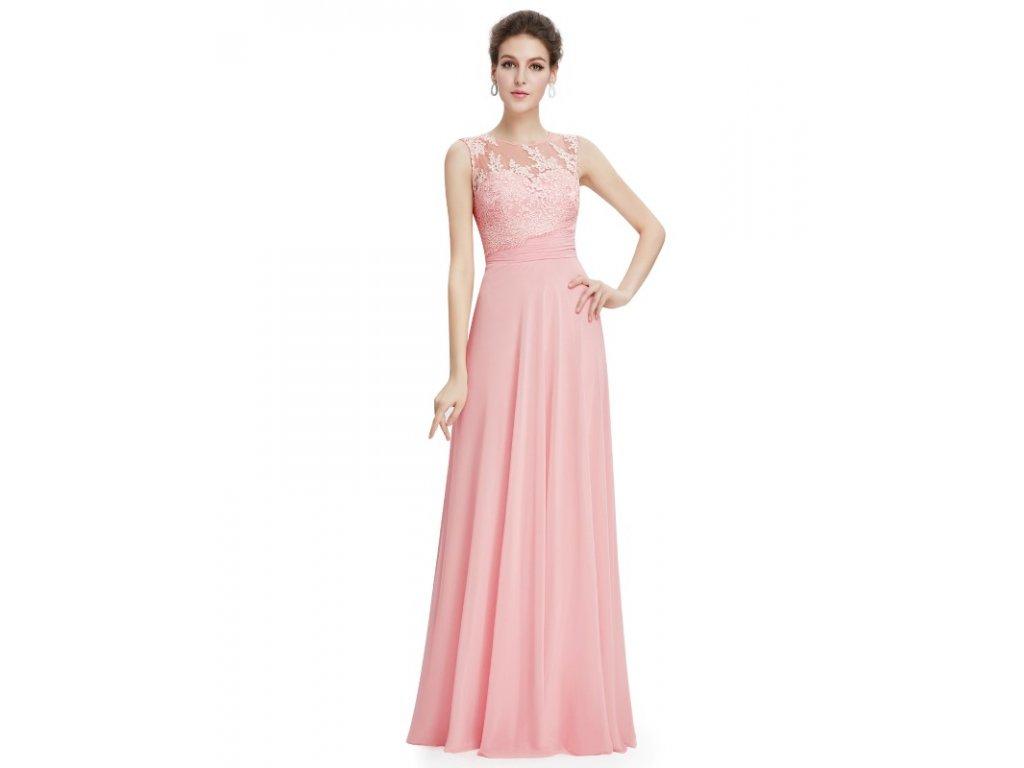 Ever Pretty plesové šaty jemně růžové 8760 (Velikost 3XL   48   16   20 8c6fddb1b3