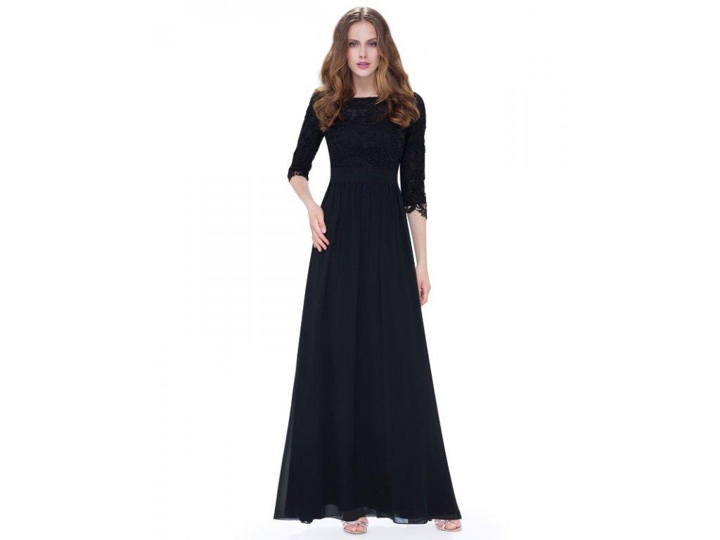 Ever Pretty společenské šaty 8412 černé (Velikost 3XL / 48 / 16 / 20)