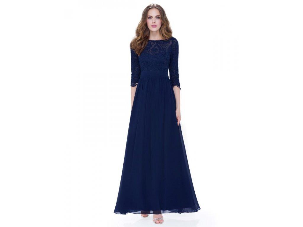 Společenské šaty Ever Pretty 8412 modré tmavé (Velikost 3XL / 48 / 16 / 20)